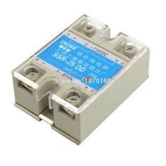 1 pcs Wholesale SSR-25DD Single Phase Solid State Module Relay 25A DC 5-60V good quality SSR-25 DD with Plastic Cover Hot Sale