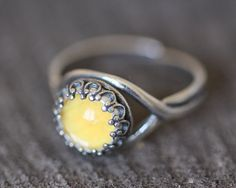 Real Insect Ring Yellow Sulphur Butterfly by BugUnderGlass on Etsy, $33.00