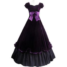 Large Discount Short Sleeves Bowknot Bandage Purple Fancy Dress Gothic Victorian Dress Large,Purple and Black Fancy Dress Store,http://www.amazon.com/dp/B00INMYQYS/ref=cm_sw_r_pi_dp_xCBdtb0EQSA764MY