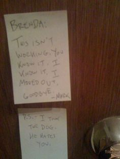 Hilarious breakup notes