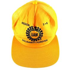 d0d1fd5f1ec Details about Vintage Snapback Mesh Trucker UAW Region 2B Solidarity  Forever Union Made in USA. Caps HatsOnline ShoppingBaseball ...