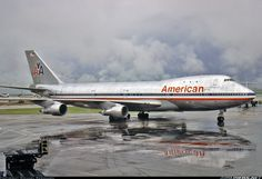 American Airlines Boeing 747-123 N9663 after a typically strong thunderstorm at Dallas-Fort Worth, May 1982. (Photo: Michael Bernhard)