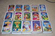 Masterpiece Disney VHS' from McDonalds