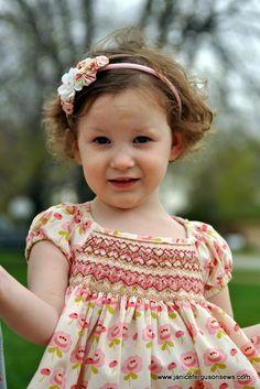 Smocked Sister Easter Dresses | Janice Ferguson Sews