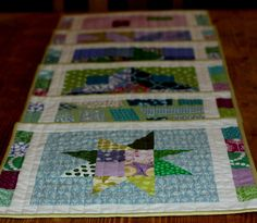Quiting bee blocks made into pretty placemats