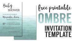 Ombre Invitation Templates Free Printable