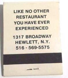 Cartoons Restaurant Nightclub Disco vintage matchbook Hewlett Long Island NY
