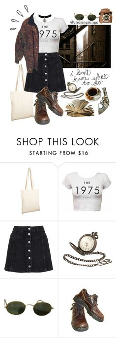 """""""Untitled #965"""" by plumpyprincess ❤ liked on Polyvore featuring Borders&Frontiers, Topshop, Black Pearl, Old Navy, Ray-Ban and Dr. Martens"""