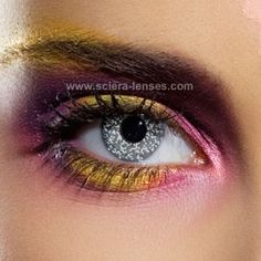 Glimmer Black Silver Contact Lenses