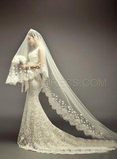 71d114ea9c 11 imágenes geniales de velos de novia largos