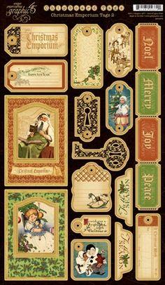 Christmas Emporium Chipboard Die-cuts 2 ❤ http://www.g45papers.com/christmas-emporium-category/christmas-emporium-chipboard-die-cuts-2