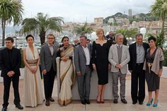 Jury members of the 66th Cannes Film Festival (L-R) directors Cristian Mungiu and Naomi Kawase, actor Christoph Waltz, actress Vidya Balan, actor-director Daniel Auteuil, actress Nicole Kidman, Jury President Steven Spielberg, directors Ang Lee and Lynne Ramsay pose during a photocall before the opening of the 66th Cannes Film Festival