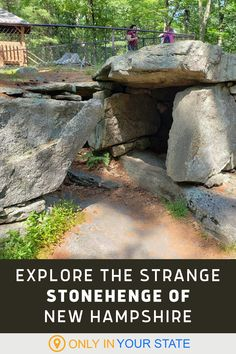Looking for a strange and unique day trip in New Hampshire? Visit the mysterious Little Stonehenge. Great for family fun, you'll find rock outcroppings, alpacas, and a gift shop. Flights To England, Best Bucket List, Granite State, Hidden Beach, Swimming Holes, Alpacas, Stonehenge, 50 States, New Hampshire