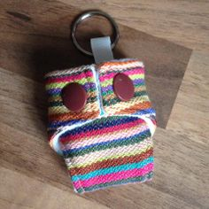 Mini Cloth nappy keyring made with wrap scrap BB-Slen Pineapple  https://www.facebook.com/GirlsGotFabric https://www.etsy.com/uk/shop/GirlsGotFabric