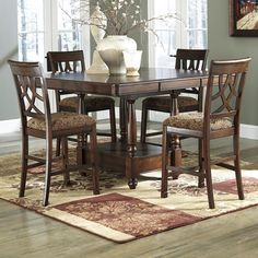 Leahlyn 5-Piece Dining Room Set - Table and 4 Chairs by Ashley Furniture at Kensington Furniture