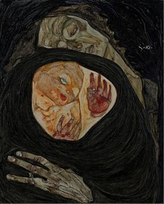 Dark stuff. Egon Schiele - The Dead Mother I, 1910