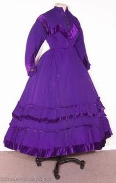 1860s - Photobucket. The first synthetic analine dye, a purple shade called Mauvine, was invented in 1856 by the chemist William Perkin, and launched a craze for the new purple shade.