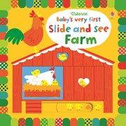 Usborne Children's Books Baby's very first slide and see farm. Babies will love looking at the bright pictures in this delightful book and seeing what appears when they move the sliders. Little Library, Little Books, Fiona Watt, Book Area, Earth Book, Interactive Board, Bright Pictures, Book Nooks, Used Books