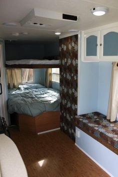 The hardest part of finding a small RV is having enough bed space for 5 and a bath under 20', preferably under 16'. And being towable by our Highlander of course.
