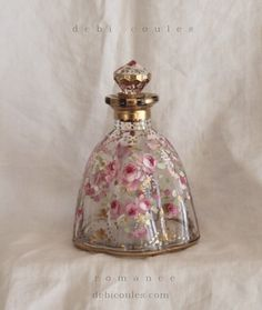My Shabby French Romantic Roses Perfume Bottle is just the prettiest!Available at www.debicoules.com