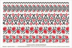Semne Cusute: Romanian traditional motifs Folk Embroidery, Embroidery Patterns, Stitch Patterns, Time Tattoos, Sleeve Tattoos, Tatoos, Fertility Symbols, Cross Stitch Borders, Moldova