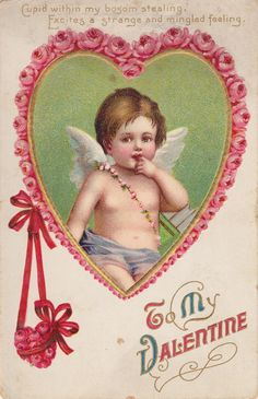 1909 Cherub Rose Hearts – free printable Wings of Whimsy: Cherub Rose Hearts – free for personal use Valentines Greetings, Valentine Greeting Cards, Vintage Valentine Cards, Vintage Greeting Cards, Vintage Postcards, Birthday Greetings, Birthday Wishes, Birthday Cards, Happy Birthday