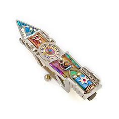 Seeka Mezuzah Clock Tower 0450, Artistic Artisan Designer Judaica