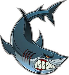Angry Toothy Shark Home Decal Vinyl Sticker X Tribal Shark, Shark Art, Great White Shark Drawing, Traditional Shark Tattoo, Hai Tattoos, Shark Illustration, Cool Sharks, Shark Pictures, Cartoon Sea Animals