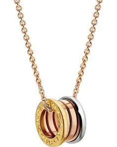 Bvlgari Bulgari Inspired B.zero1 14kt Pink/Rose, White And Yellow Gold Necklace
