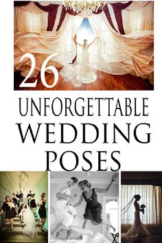 These wedding photo poses are creative and priceless! Check out these great ideas for your upcoming wedding!