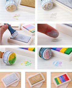 Moda de nova 6 cores estilo artesanato Ink Pad adorável almofada de carimbo para DIY trabalho engraçado grátis frete em Selos de Escritório & material escolar no AliExpress.com | Alibaba Group