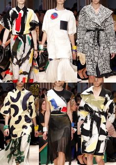 Celine S/S 2014-Bold Painted Brushstrokes – Newsprint Type – Graphic Emblems - Brassaï Graffiti References – Doodle Styles – Primary Colour Palette – Giant ...