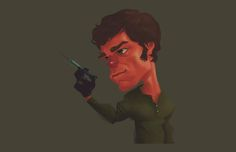 dexter caricatures | Dexter Caricature T-Shirt