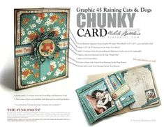 Click to download the printable version of this great chunky card by Nichola #G45GiftHowTos #graphic45