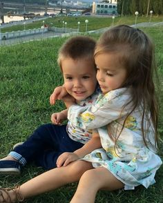 the Warm Embraces - Lovely Siblings.. lol  Nastya is such a Caring, Thoughtful , Gentle Elder Sister ~ 3 1/2 yrs old *._Jul 5 - 2016. ❝  GIF ➠ View  the Source. ✯ ❞
