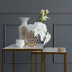 Exquisite ornamentals from @JonathanAdler atop the @Oly.Studio Jonathan Nesting Side Table. #CocoRepublic #OlyStudio #JonathanAdler #interiors #decor