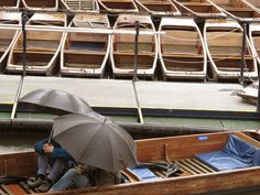 Punting even in the rain!