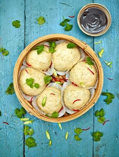 Vegan dim sum buns with a mushroom filling  Soft steamed buns stuffed with Asian-style mushrooms and hoisin sauce – people will go mad for these!