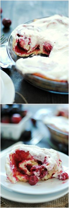 Cherry Vanilla Bean Sweet Roll | www.somethingswanky.com