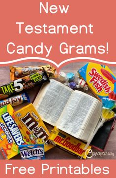 Appreciate the sweetness of the New Testament with these free New Testament Candy Grams designed by Marci Coombs Bible Object Lessons, Fhe Lessons, Lessons For Kids, Candy Quotes, Candy Sayings, Lds Seminary, Church Activities, Sunday Activities, Activity Days