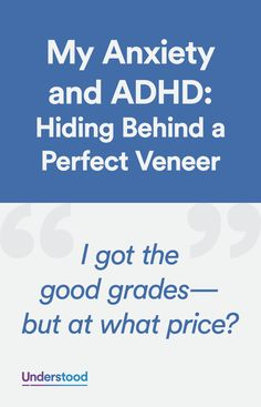 An adult discusses her confusion in being diagnosed with ADHD at age despite having been a straight-A student and a star athlete. Adhd Odd, Adhd And Autism, Adhd Facts, Adhd Brain, Adhd Help, Adhd Diet, Adhd Strategies, Attention Deficit Disorder, Adult Adhd