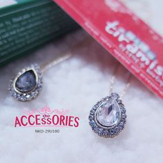Colour (Quantity):-  Black (3); Clear (3)  Sale 4 U $8 - only payment through Bank Transfer (With FREE SingPost AM Mail within Singapore).  Like us at http://www.facebook.com/tiramisuboutiquesg You can buy it at our website! More info at http://theaccessories.co/product/nko-29u189  #women #necklace #korea #new #hand-made #girl #ladies #sweet #elegant #rhodium gold-plated #black #clear #high quality crystals #bling bling