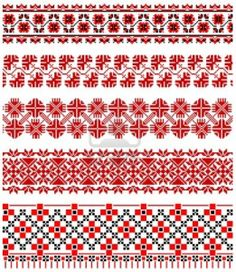 This is is an image of common Ukrainian embroidery patterns. In Ukrainian culture, the patterns mainly consist of the colors red and white. In similarity to Islamic culture, flowers and geometric shapes are used in the design. Human figures are also rarely used in Ukrainian motifs, similar to the Islamic culture where there are no human figures because they believe that art is decorative, not representative. Overall, the motifs of Ukrainian and Islamic cultures have some similarities in…