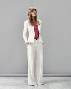 7032fdd572af Anna wide leg crepe trouser Taylor crepe shawl collar jacket Camilla silk  t-shirt. Aquascutum · SS15 Womens Lookbook