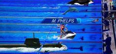 Michael Phelps To Race A Great White Shark During 'Shark Week' - http://viralfeels.com/michael-phelps-to-race-a-great-white-shark-during-shark-week/