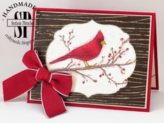 The Crafty Medic: Beauty of the Season - Stampin' Up! Beauty of the Season stamp set coloured with Blendabilities. Inside and alternate card on main post.