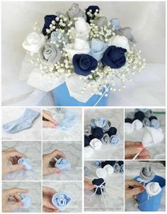 26 creative ways to recycle old socks – Baby Shower Ideas for Girls – Grandcrafter – DIY Christmas Ideas ♥ Homes Decoration Ideas Bebe Shower, Deco Baby Shower, Baby Shower Drinks, Baby Shower Cakes For Boys, Baby Shower Decorations For Boys, Boy Baby Shower Themes, Baby Shower Fall, Baby Shower Favors, Baby Boy Shower