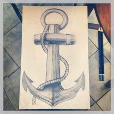 Idea de una amiga de dibujar un ancla