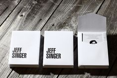 A foursome of offset printed postcards and a letterpressed, ready-made envelope come together in a low-budget but unique self-promo for photographer Jeff Singer.