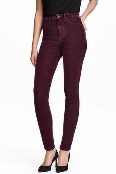 Corduroy trousers Super skinny | H&M